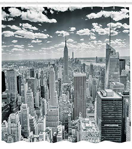 Stadt Duschvorhang Manhattan Stadtbild für Badezimmer geeignet