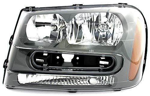 JP Auto Headlight Compatible With Chevrolet Chevy Trailblazer L Ss 2002 2003 2004 2005 2006 2007 2008 2009 Driver Left Side Headlamp