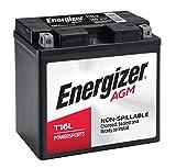 Energizer - ET16L T16L AGM Motorcycle and ATV 12V Battery, 260 Cold...
