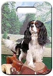 【Canine Designs】 ラゲージタグ ネームタグ 荷物札 キャバリア・キング・チャールズ (サドル) [並行輸入品][Canine Designs]