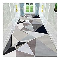 CnCnCn 単純な幾何学的パターンのベッドルームラグエントランス回廊ノンスリップ階段 (Color : A, Size : 60x480cm)