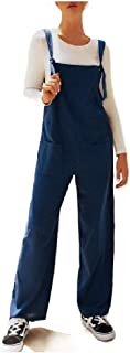 Howely Women Baggy Pockets Oversized Casual Jumpsuit Bid Pants