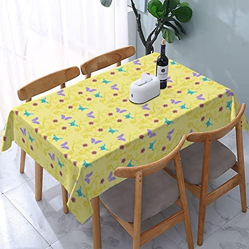 Mantel de verano colorido con patrón de origami, primavera, impermeable, sin arrugas, para exteriores, picnic, camping, rectangular, 137 x 183 cm