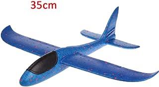 selltoJP Kids DIY Airplane Model Hand Throw Flying Glider Plane Foam Fillers Aeroplane Led Flashing Aircraft Toys for Children Gift キッズdiy飛行機モデル手投げ飛行グライダー飛行機フォームフィラー飛行機ledフラッシング航空機のおもちゃ子供のためのギフト (Blue Without Lamp)