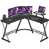 Foxemart L Shaped Gaming Desk 51'' Corner Game Desk Home Office...
