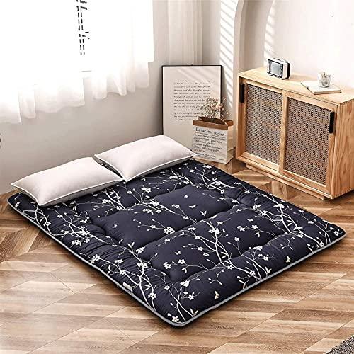 Colchón de Suelo Coreano Floral Antiguo Colchón de futón japonés, colchón de Tatami Plegable Grueso, colchón de Camping Enrollable, colchón y colchón de sofá, (Tamaño: 180 * 200 CM, Color: B)