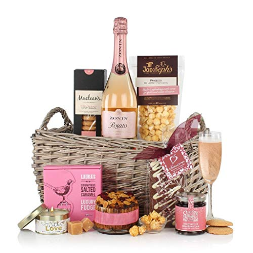 Ladies Hamper - Food Hamper with Sparkling Rose Wine - Gift for Her - Next Day Delivery
