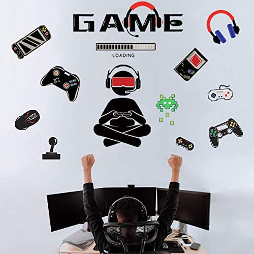 Gamer Wall Decals Game Room Decor Wall Sticker Boys Room Wall Decorations Bedroom Game Room product image
