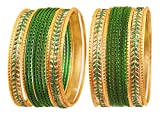 Touchstone Metallic Colorful 2 Dozen pulsera pulsera joyería pulsera especial pulseras para mujer 2.75 Set 2 Verde / Tono dorado antiguo