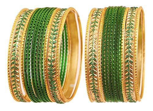 Touchstone Metallische bunte 2 Dutzend spezielle Armbandarmbänder des Armbandansammlungsschmucks für Damen 2.62 Set 2 Grün