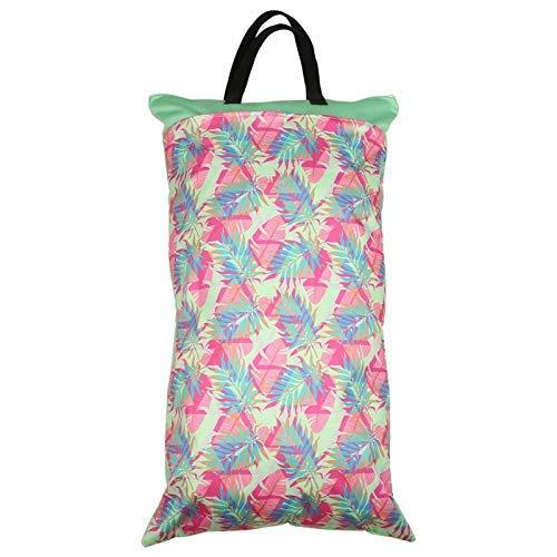 Manejar Hesign, bolsa de pañales con cremallera, conveniente para recoger la bolsa,(EF231)
