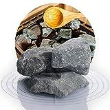 Deutsche Diabas Saunasteine 25 kg 5-8 cm oder 8-12 cm, hochwertige Aufgusssteine für den Saunaofen, vorgewaschen (8-12 cm)