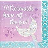 Iridescent Mermaid All The Fun Napkins, 48 ct