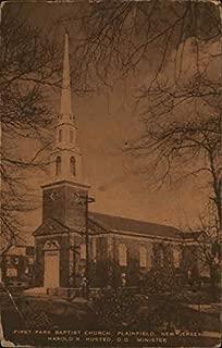 First Park Baptist Church - Harold R Husted, D.D, Minister Plainfield, New Jersey Original Vintage Postcard