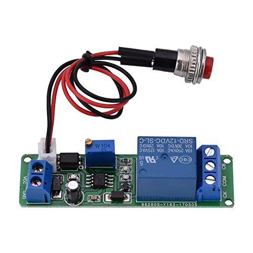 Akozon tijdschakelaar relais module DC 12 V instelbare timer vertraging uitschakelen module timer 1~10 sec externe triggervertraging schakelaar vertraging aan/uit timer vertraging module
