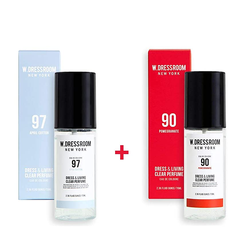 記念日病気のパネルW.DRESSROOM Dress & Living Clear Perfume 70ml (No 97 April Cotton)+(No 90 Pomegranate)