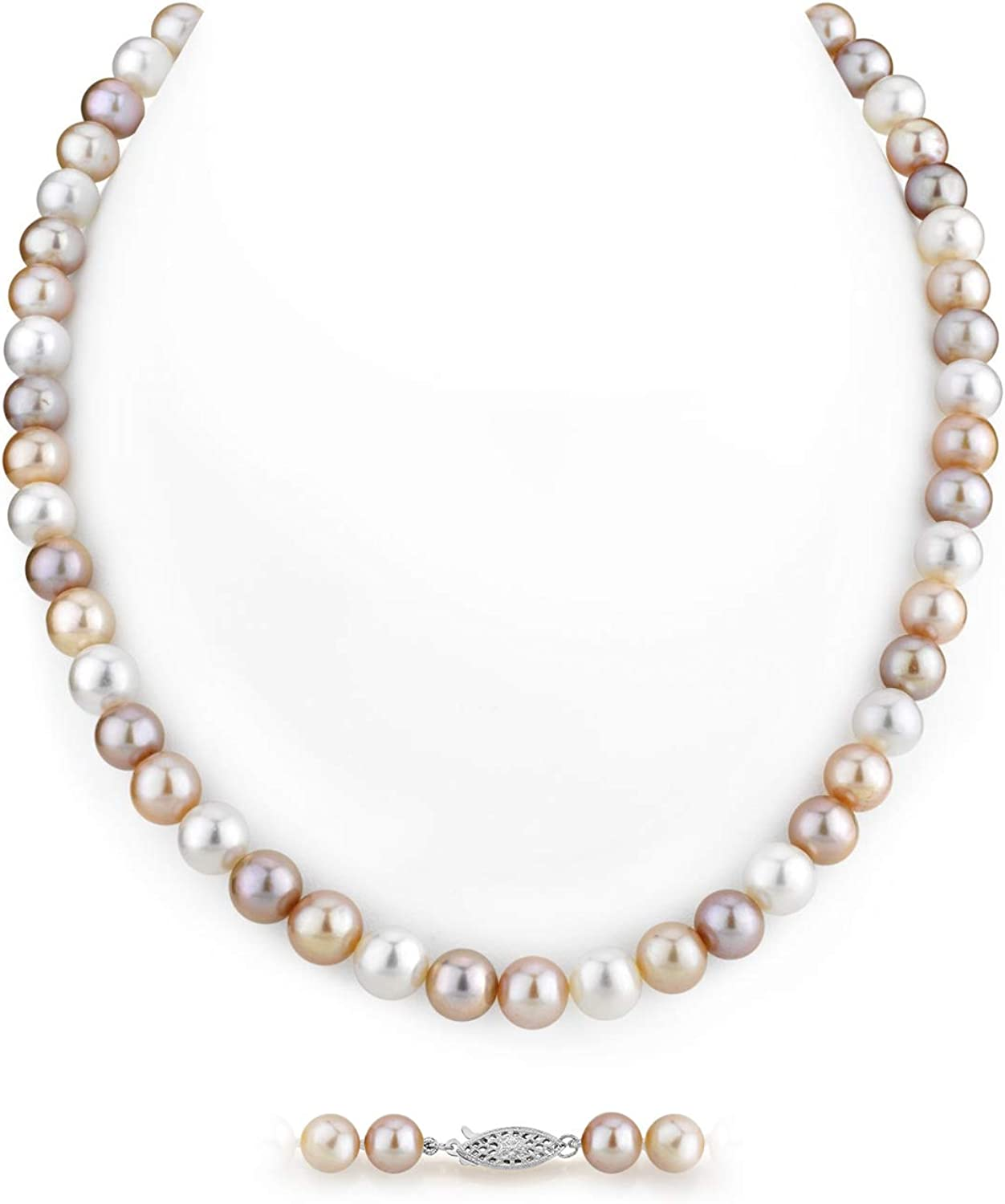 Multicolor Freshwater Cultured Pearl Necklace for Women in AAA Quality - THE PEARL SOURCE