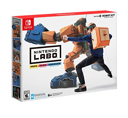Nintendo Labo Toy-Con Robot Kit for Nintendo Switch with Adjustable Straps and In-Game Customization (Non-Retail Packaging)