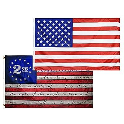 Amazon - 50% Off on American US Flag and 2nd Second Amendment Flag – USA Flag Vivid Color