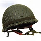 world war 2 helmets - GPP Perfect WWII US Army M1 Green Helmet Replica with Net/Canvas Chin Strap DIY Painting