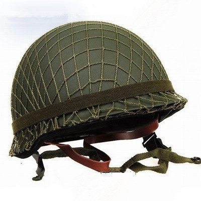GPP Perfect WWII US Army M1 Green Helmet Replica with Net/Canvas Chin Strap DIY Painting