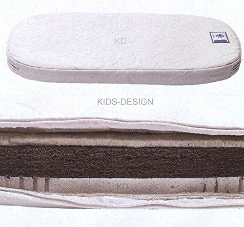 Leander Latex-Kokosfasern-Matratze für das Leander Bett Babybett 70 x 120 oval