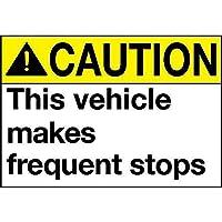 注意車両が頻繁に停止する メタルポスタレトロなポスタ安全標識壁パネル ティンサイン注意看板壁掛けプレート警告サイン絵図ショップ食料品ショッピングモールパーキングバークラブカフェレストラントイレ公共の場ギフト