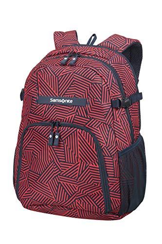 Samsonite Rewind - Laptop Rucksack M, 44 cm, 23 L, rot (Capri Red Stripes)