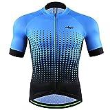 cheji Men's Cycling Jersey Quick Dry Bike Shirts Clothes T (Black, XL)