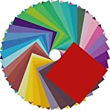 Origami Paper Double Sided Color - 200 Sheets - 20 Colors - 6 Inch Square Easy Fold Paper for Beginner