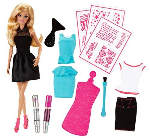 Mattel Barbie CCN12 - Glitzermoden-Designer, Puppe mit viel Zubehör
