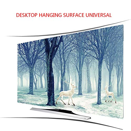 Lxxzz Curved TV Desktop Hanging Hood Tuch Staubdicht Sonnenschutz Professionelle Anpassung Fernseher 55 Zoll,65