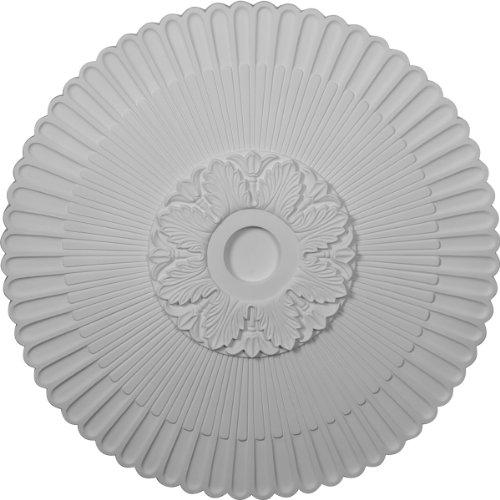 Ekena CM36ME - Medallón de techo, color blanco imprimado, 36 1/4 de diámetro exterior x 1 7/8 P