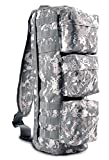 Ultimate Arms Gear ACU Army Digital Camo Camouflage Tactical Assault Grab and Go Bug Out Bag Molle Adjustable Ambidextrous Shoulder Strap Sling Multi-Functional Utility Pouch Compartment Sling Equipment Field Messenger Gym Hiking Camping Backpack Pack Holds Heavy Duty Gear Water Bladder and Survival Tools