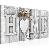 Wandbilder Home Holzoptik 1 Teilig Modern Vlies Leinwand Wohnzimmer Flur Landhausstil Schwarz Weiss 503312c