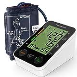TEC.BEAN Tensiomètre Electronique Bras Moniteur Automatique de Mesure de Tension Artérielle Numérique avec Détection de la Fréquence Cardiaque et Stockage pour 2 Utilisateurs, Certifié FDA