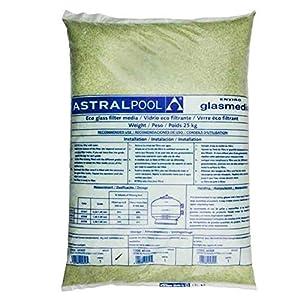 LordsWorld – Astralpool – (57011) 0,5-1,0 mm Activa de Cristal para la Arena Filtros de 25Kg – Arena y Vidrio para filtros de Piscina de Arena – 57011-vetro