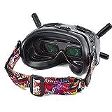 Tmom - Correas de gafas para DJI FPV, correa fija para gafas de dron y otras gafas, multicolor ajustable (rojo)