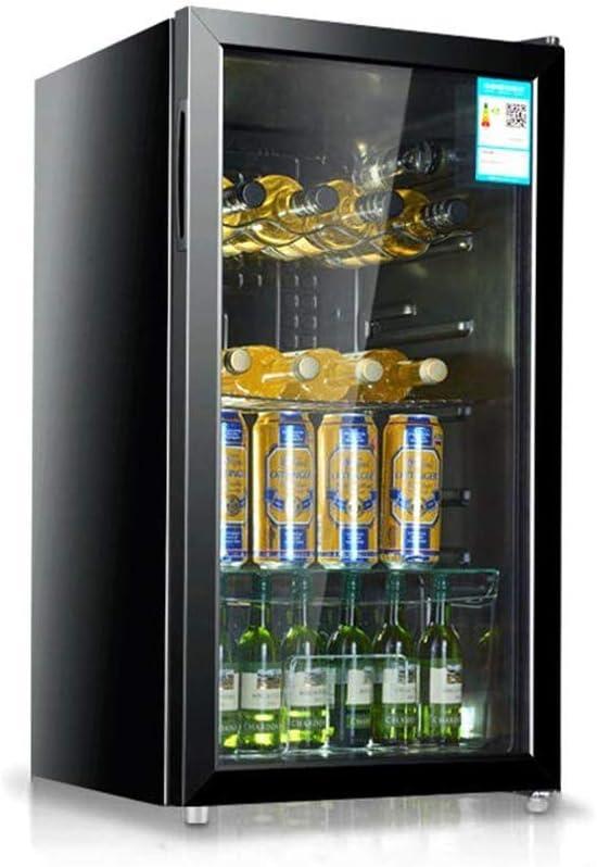 YFGQBCP Multifuncional 98 litros Enfriador de Vino, de Gran área de Temperatura Constante, Inteligente operación táctil, refrigerado por Aire y sin Escarcha