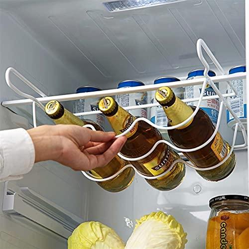 TIANCHE Estantería de Vino Refrigerador Cocina Estante Estante Can Beer Botella de Vino Top Holder Rack Organizador Cocina Almacenamiento Frigorífico Organizador Estantes