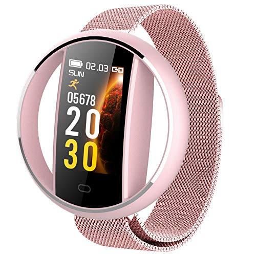 YQYM Bluetooth Smartwatch, Fitness Armband Uhr, mit Pulsuhr Fitness Tracker IP68 Wasserdicht Sportuhr Smart Watch mit Schrittzähler, Stoppuhr für Damen Herren iOS Android Handy