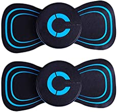 2PCS Multifunction Breast Massager,Electric Breast Massage Pad,Physiotherapy Acupoint Massager with 10 Adjustments And 6 Massage Techniques,for Breast Enhancement,Shoulder Neck Relaxation,Rechargeable