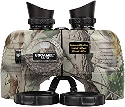 Marine Binoculars with Compass and Rangefinder for Adults - Waterproof 10x50 HD Binoculars BAK4 Prism FMC Lens, with Harness Strap for Navigation Hunting Bird Watching, Boating