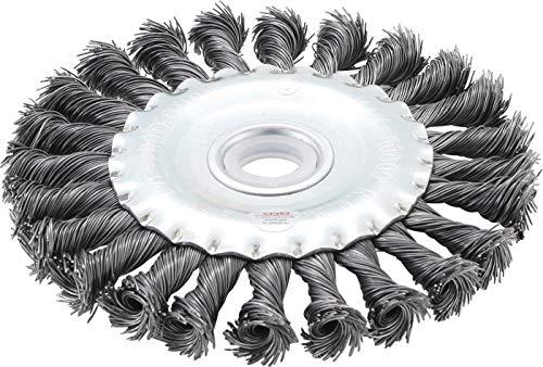 BGS 3986 | Scheibenbürste / Zopfrundbürste | Ø 125 mm | Bohrung 22,2 mm