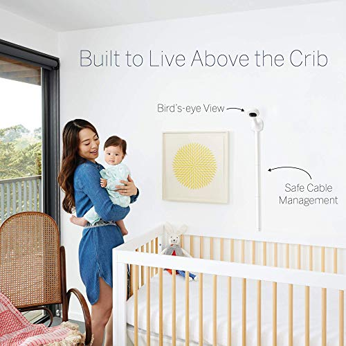 Nanit Smart Baby Monitor and Wall Mount - Camera with HD Video & Audio, Sleep Tracking, Night Vision, Temperature & Humidity Sensors, and Nightlight