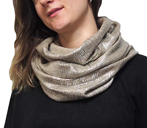 Mimosa dames gemaakt in Italië luxe kasjmier lurex glitter snood lus sjaal hoofddoek