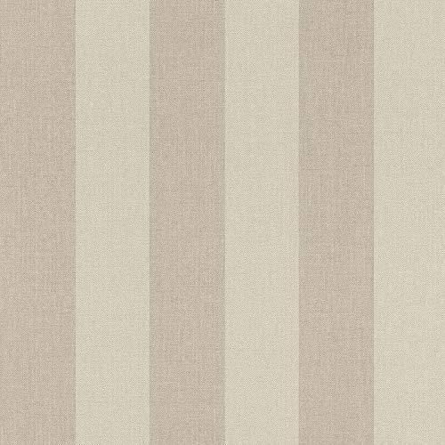 Rasch Tapeten Vliestapete (grafisch) Beige Braun 10,05 m x 0,53 m Poetry 424126 Tapete