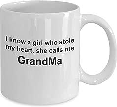 GreatGrandmaMug - I know a girl who stole my heart, she calls me GrandMa - GrandmasMug