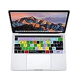 XSKN Ableton Live Englisch Shortcut Silikon Tastatur Haut Abdeckung für Apple Multi Touch Bar MacBook 13 Zoll / 15 Zoll (A1706 und A1707), US-EU-Universal-Layout