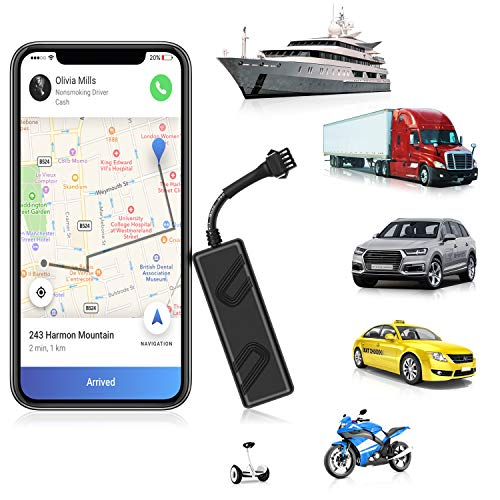 ENGERWALL 2020 New Upgraded GPS Tracker for Vehicles Mini Hiden Real-Time Car GPS Tracker 9-90V Anti Lost Tracking Device for Managing Fleet/Car/Truck/Taxi/Motorcycle/RV/Bus(Lifetime Free Platform)